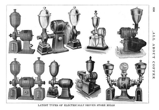 старинные электрические кофемолки